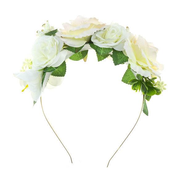Goudhaartje Diadeem grote rozen glitter