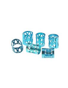 Goudhaartje Dreadlock bead cuff 6 stuks blauw