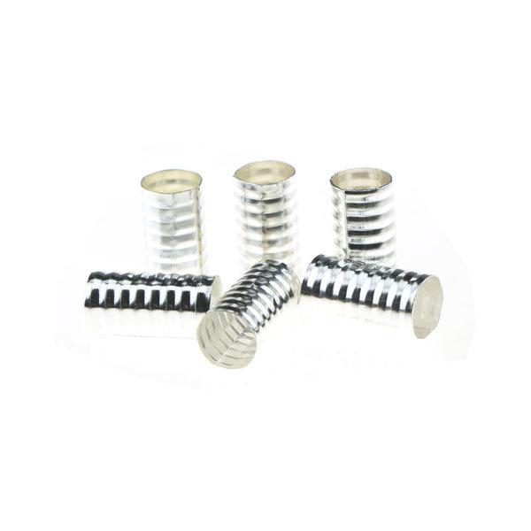 Goudhaartje Dreadlock bead cuff 6 stuks spiraal  zilverkleurig