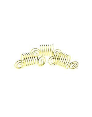 Dreadlock bead 3 stuks swirl goudkleurig