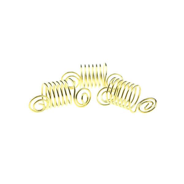 Goudhaartje Dreadlock bead 3 stuks swirl goudkleurig