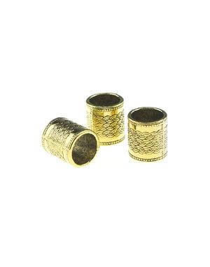 Dreadlock bead 3 stuks kabels goudkleurig