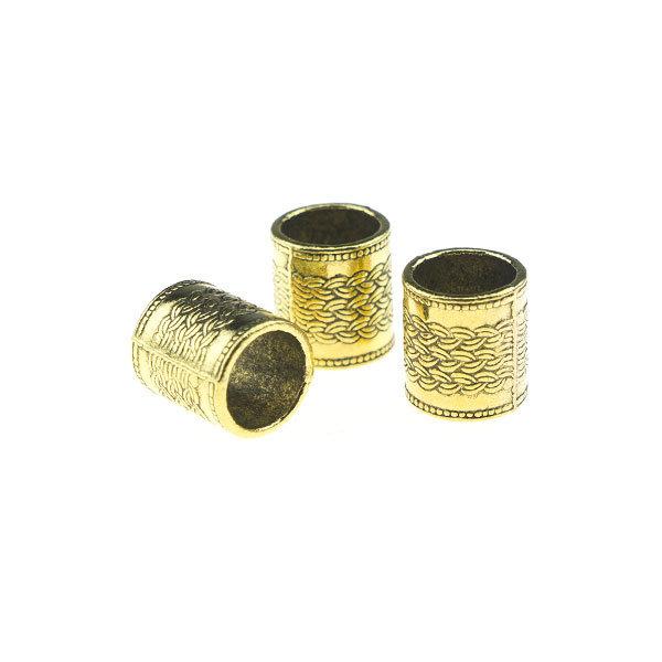 Goudhaartje Dreadlock bead 3 stuks kabels goudkleurig