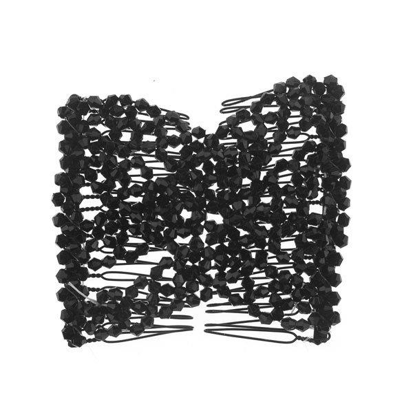 EZ comb met kralen zwart