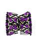 EZ comb met kralen en bloemen strass paars