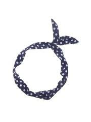 Goudhaartje Haarband sjaal retro polkadot blauw wit