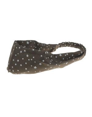 Goudhaartje Haarband elastisch met sterren bruin