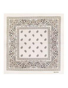 Goudhaartje Bandana patroon wit zwart