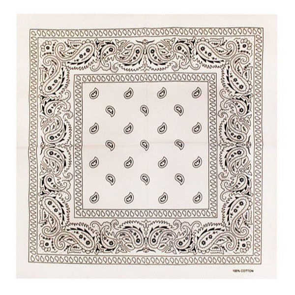 Bandana patroon wit zwart