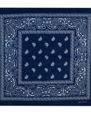 Bandana patroon blauw wit