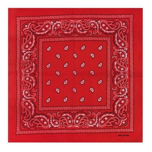 Bandana patroon rood wit