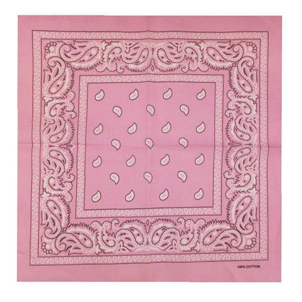 Bandana patroon roze wit