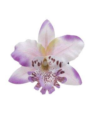 Orchidee haarbloem op alligator knipje