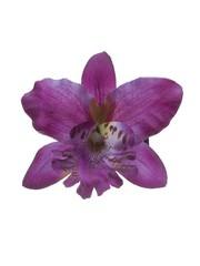 Goudhaartje Orchidee haarbloem paars op alligator knipje