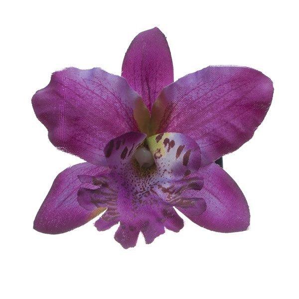 Orchidee haarbloem paars op alligator knipje
