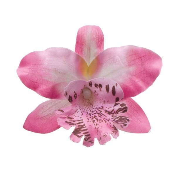 Goudhaartje Orchidee haarbloem lichtroze op alligator knipje