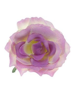 Haarbloem roos L kleur crème met oud roze
