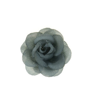 Haarbloem roosje grijs S op alligator knipje
