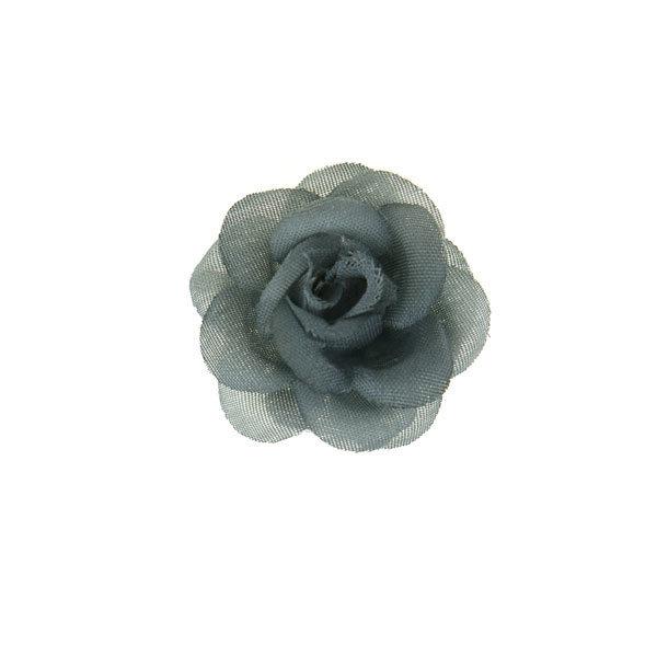 Goudhaartje Haarbloem roosje grijs S op alligator knipje