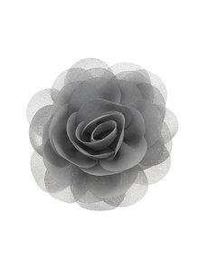 Goudhaartje Haarbloem roos grijs op alligator knipje
