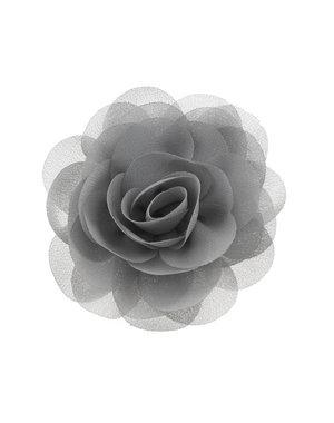 Haarbloem roos grijs op alligator knipje