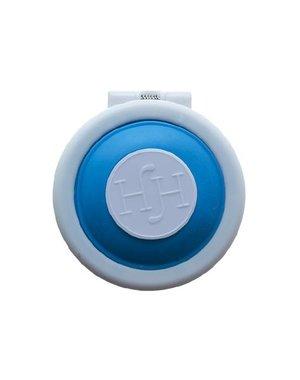 Haarkrijt in rond doosje in de kleur blauw