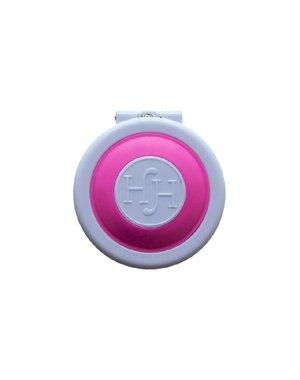 Haarkrijt in rond doosje in de kleur roze
