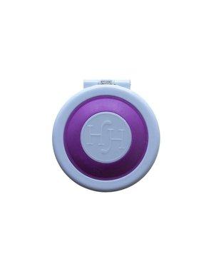 Haarkrijt in rond doosje in de kleur paars