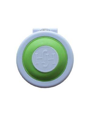 Haarkrijt in rond doosje in de kleur groen