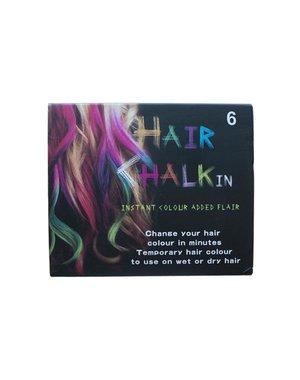 Haarkrijt in doosje meerdere kleuren 6 stuks