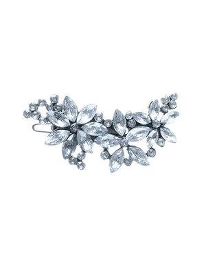 Haar ornament bloemen en strass steentjes