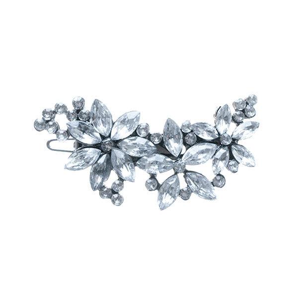 Goudhaartje Haar ornament bloemen en strass steentjes