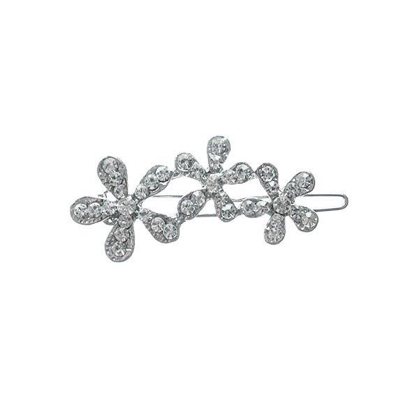 Goudhaartje Haarclip luxe met drie bloemen met strass steentjes