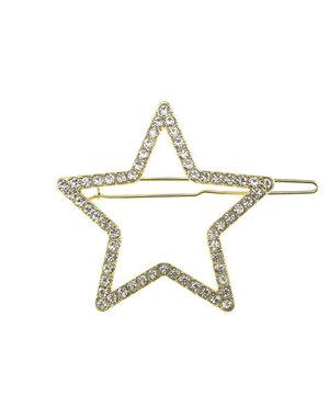 Haarclip luxe goudkleurig ster