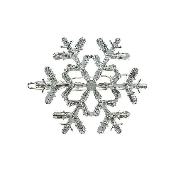 Haarclip luxe zilverkleurig model ijskristal