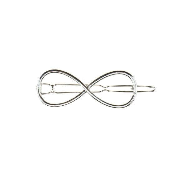 Haarclip luxe zilverkleurig infinity