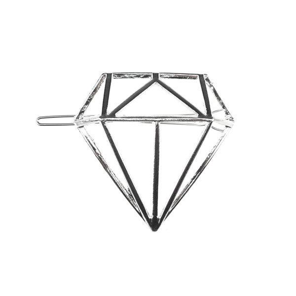 Haarclip luxe zilverkleurig diamant