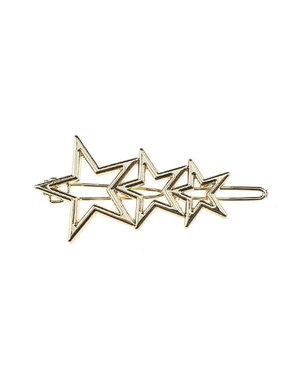 Haarclip luxe sterren goudkleurig