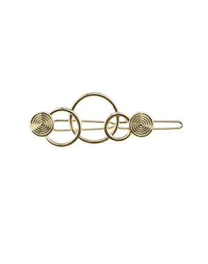 Haarclip luxe cirkels goudkleurig