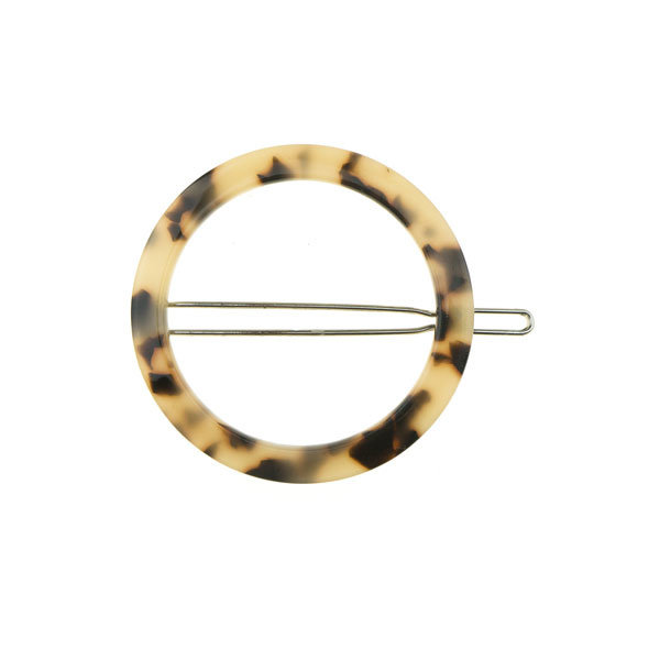 Haarclip cirkel kleur marmer
