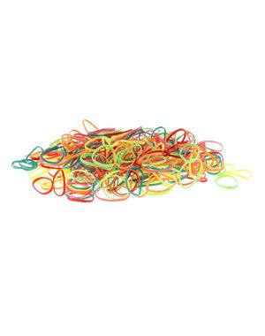 Goudhaartje Rasta elastiekjes in de kleur multicolor