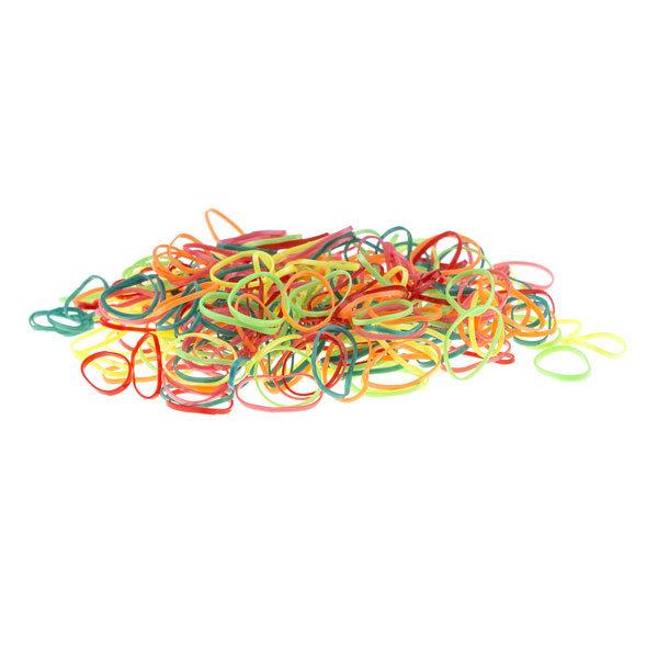 Goudhaartje Rasta elastiekjes 250 stuks in de kleur multicolor
