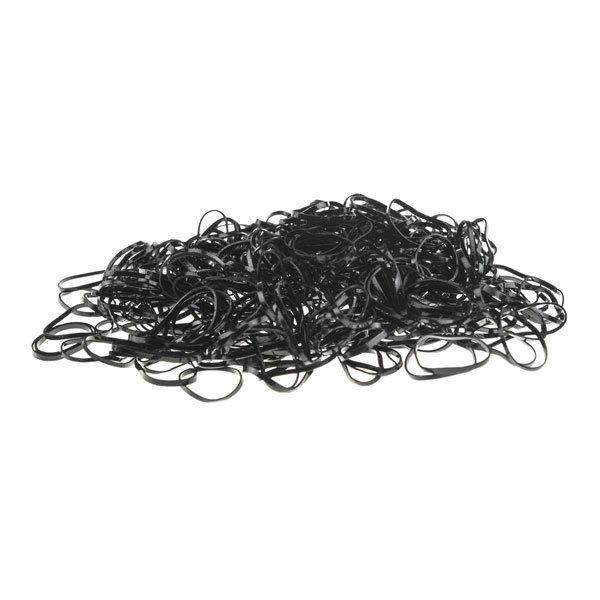 Goudhaartje Rasta elastiekjes in de kleur zwart