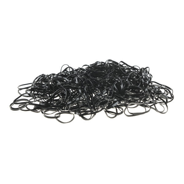 Rasta elastiekjes in de kleur zwart