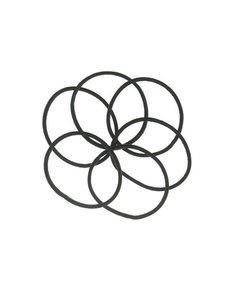 Goudhaartje Haarelastieken set van 6 stuks smal zwart