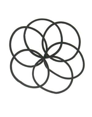 Haarelastieken set van 6 stuks smal zwart