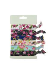 Goudhaartje Haarelastiek/armband 6 stuks multicolor rozen