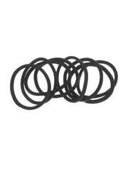 Goudhaartje Haarelastieken set van 8 stuks breed zwart