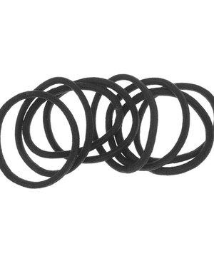 Haarelastieken set van 8 stuks breed zwart