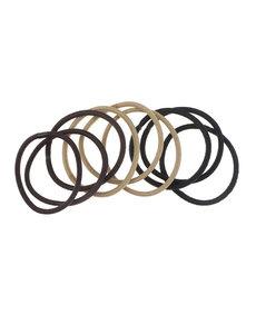 Goudhaartje Haarelastieken set van 9 stuks bruin